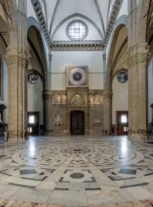 Duomo di Firenze, Controfacciata con Orologio di Paolo Uccello 1