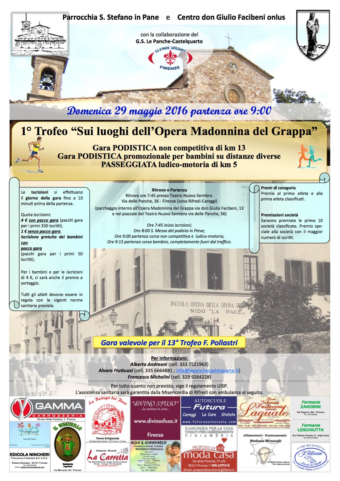 Gs Le Panche Castelquarto.1 Trofeo Sui Luoghi Dell Opera Madonnina Del Grappa La Terrazza