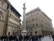 Restaurata la colonna della Giustizia di Piazza Santa Trinità