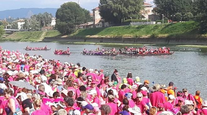 La testimonianza di 4.000 donne di 18 Nazioni a Firenze per il Festival Mondiale del Dragon Boat