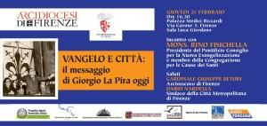 LA PIRA 2019 Invito Mons. Fisichella