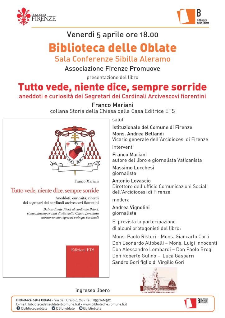 Locandina presentazione libro Segretari Cardinali di Franco Mariani del 5 APRILE 2019 a Firenze-page-001