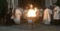 Scoppio del Carro di Firenze: accensione del fuoco santo nella Veglia di Pasqua