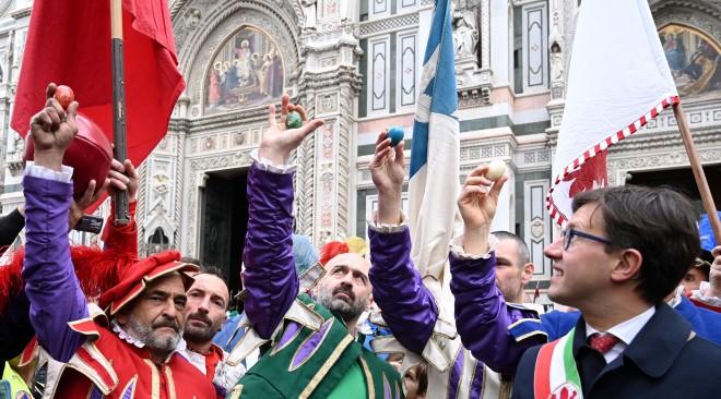 Sorteggio del Calcio Storico: a Pasqua a porte chiuse nel Salone dei Cinquecento causa Coronavirus