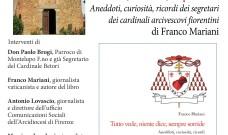 """Sabato 10 agosto a Montelupo F.no le """"confessioni"""" di don Paolo Brogi al vaticanista Franco Mariani"""