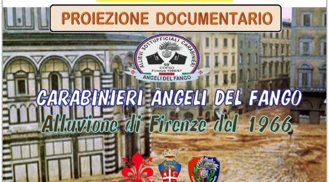 """Sabato 5 ottobre: dalle 9 alle 19 proiezione no stop in anteprima mondiale documentario """"Carabinieri Angeli del Fango"""""""