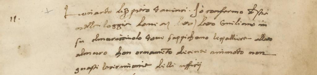 Verbale riunione 25 gen 1504, Parere Leonardo da Vinci, Archivio dell'Opera di Santa Maria del Fiore
