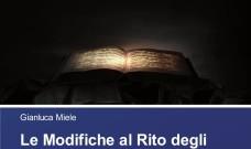 Le Modifiche al Rito degli Esorcismi nel XX Secolo, il nuovo libro del Prof. Gianluca Miele