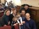 La piccola Zecchina d'Oro fiorentina Irene Lucarelli festeggiata al Quartiere 4 del Comune di Firenze