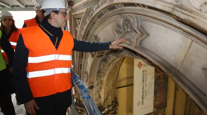 Visite guidate al cantiere e ponteggi della Loggia del Bigallo in piazza del Duomo