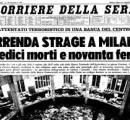 Strage di Piazza Fontana: Firenze la ricorda 50 anni dopo