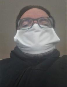 Franco Mariani con mascherina coronavirus 3 marzo 2012