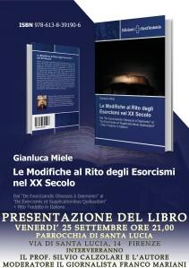 Locandina Presentazione libro Esorcisti con FRANCO MARIANI