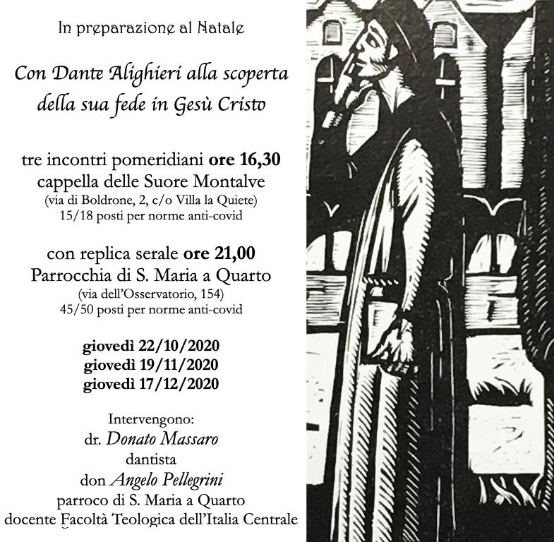 Locandina incontri Dante