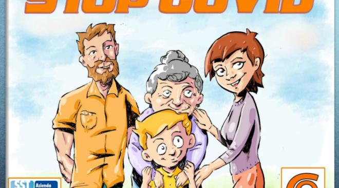 """""""Stop Covid"""" il primo fumetto che parla di coronavirus"""