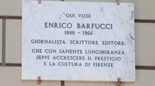 Da oggi una targa ricorda a Firenze Enrico Barfucci nel luogo in cui abitava in viale Matteotti
